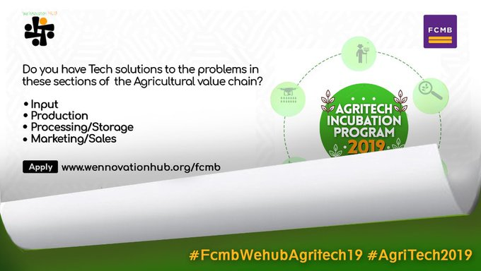 Wennovation Hub in Collaboration with FCMB Present AgriTech19